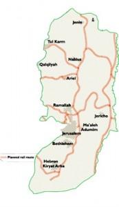 Nel cuore della Cisgiordania occupata un nuovo piano ferroviario destinato ai coloni di Israele