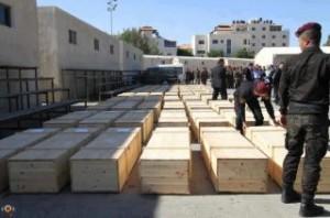 Trasferite ai palestinesi le salme dei caduti 'dei numeri'