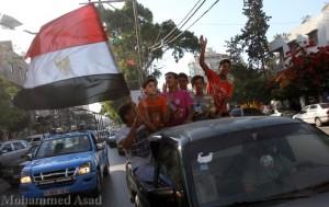 Gaza festeggia la vittoria del presidente egiziano Mursi