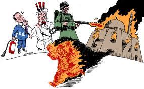 Bombardamenti a tappeto su tutta la Striscia di Gaza. Distrutti gli edifici governativi