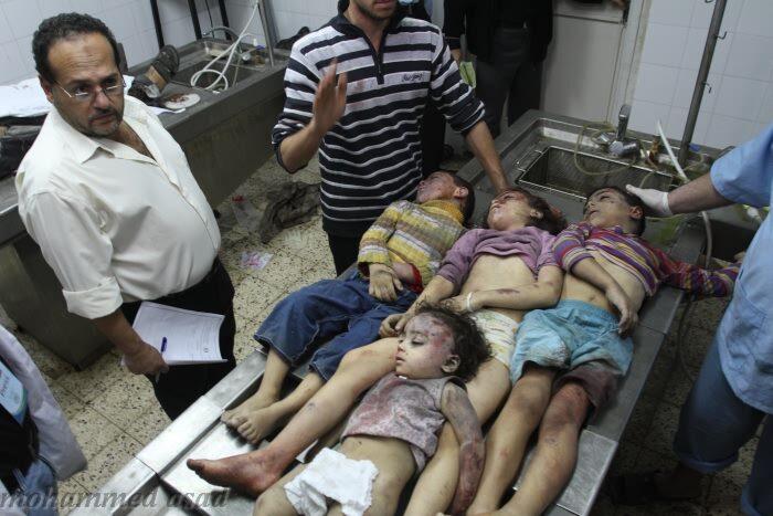 Gaza, non s'arresta la strage degli innocenti: domenica, 10 morti, tra cui 4 bimbi. Bilancio odierno: 58 morti e 550 feriti