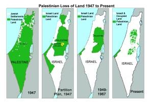 La mappa palestinese dopo la proclamazione dello Stato