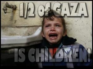 Gaza is half children