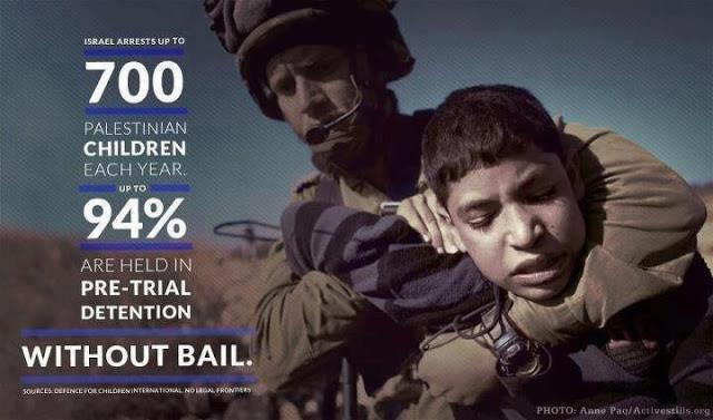 Report: 10.000 bambini palestinesi incarcerati dal 2000