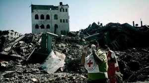 La CRI inizia a ripulire la Striscia di Gaza