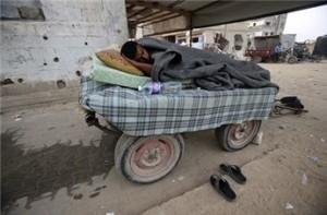 Gli sfollati di Gaza aspettano ancora una soluzione