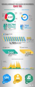 I numeri dell'assalto israeliano contro Gaza