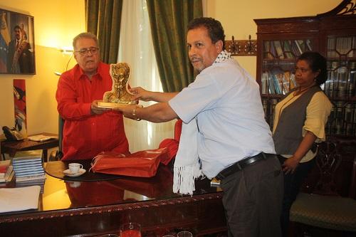 Hannoun e ambasciatore venezuela
