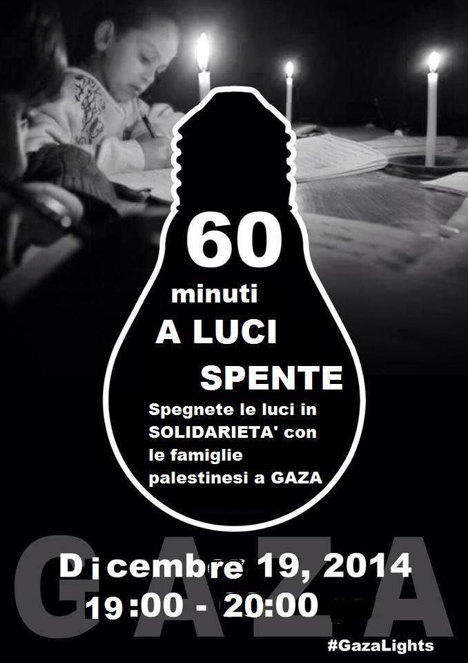 60 minuti a luci spente per Gaza