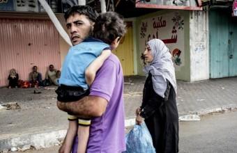77 Palestinesi, per la maggior parte bambini, sfollati in tre giorni