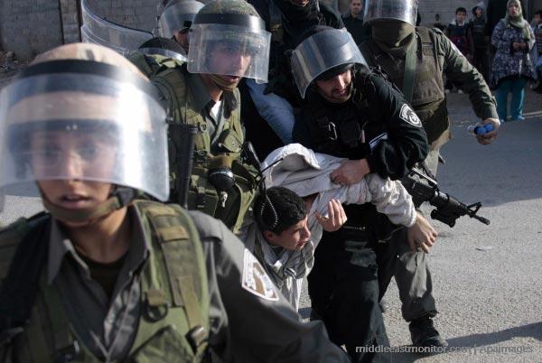 israeli-soldiers-arresting-palestinian-boy-prisoner-detainee