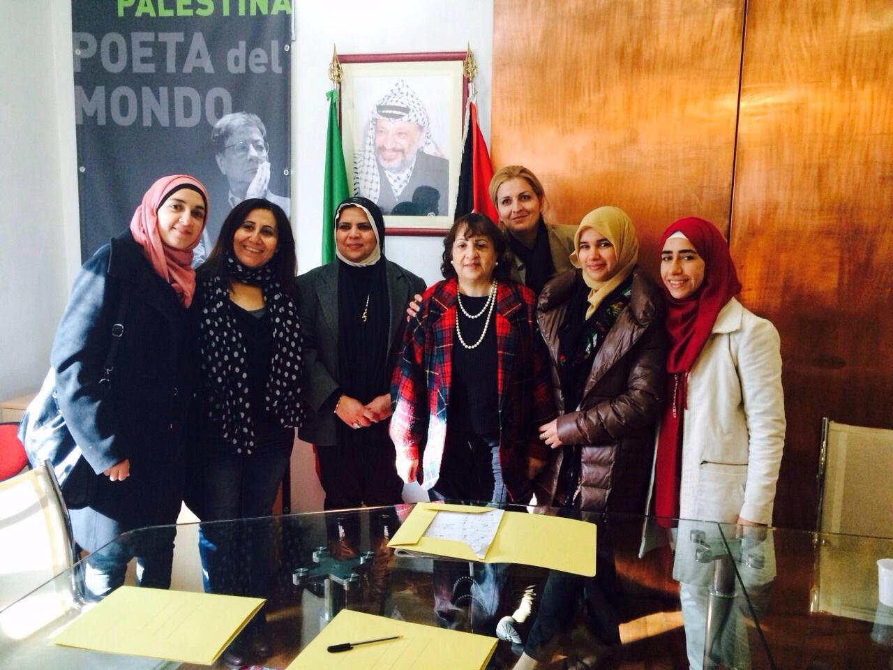 Delegazione Abspp ricevuta dall'ambasciatrice di Palestina a Roma
