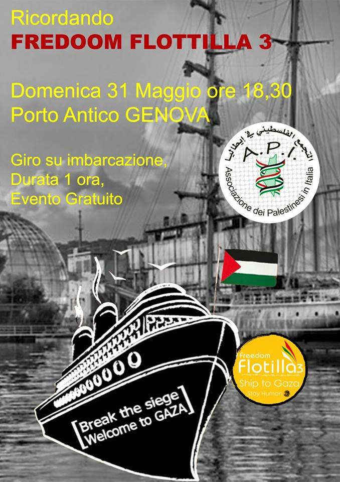 L'Api, in collaborazione con il porto di Genova, presenta Freedom Flotilla III… per non dimenticare