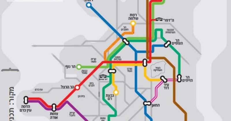 Israele smembra Gerusalemme aggiungendo altre linee metropolitane