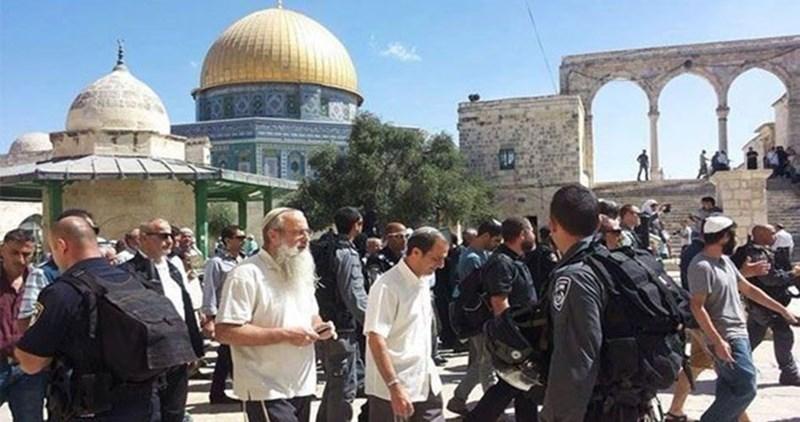 Coloni israeliani invadono i cortili di al-Aqsa
