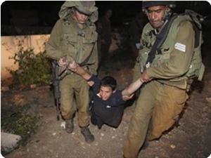 Le forze israeliane rapiscono 4 minorenni a Jenin