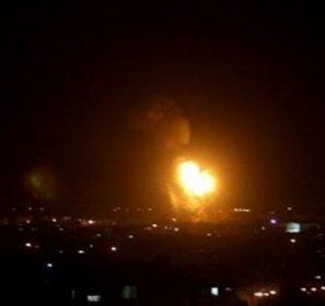 Catena di bombardamenti israeliani sulla Striscia di Gaza