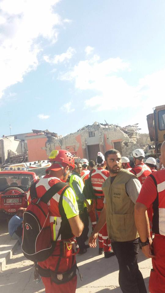 Terremoto nell'Italia centrale, il racconto di un soccorritore palestinese