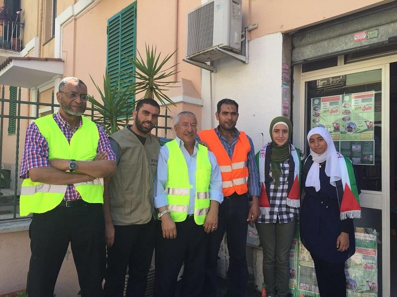 Volontari palestinesi in aiuto ai terremotati di Amatrice
