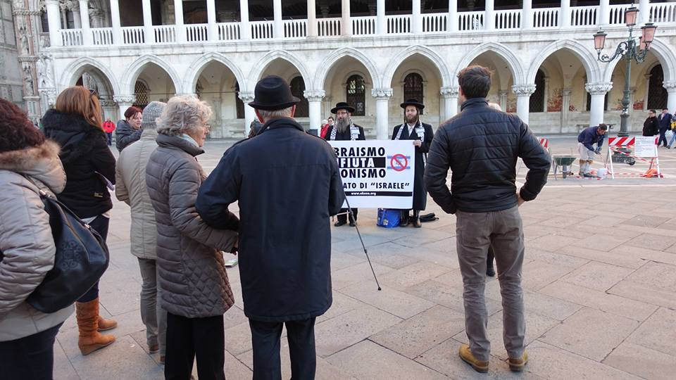 Rabbi di NK a Venezia contro Sionismo