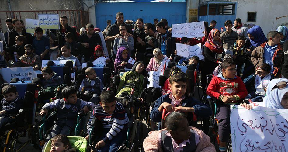 """Le persone con """"bisogni speciali"""" di Gaza chiedono il riconoscimento dei propri diritti"""