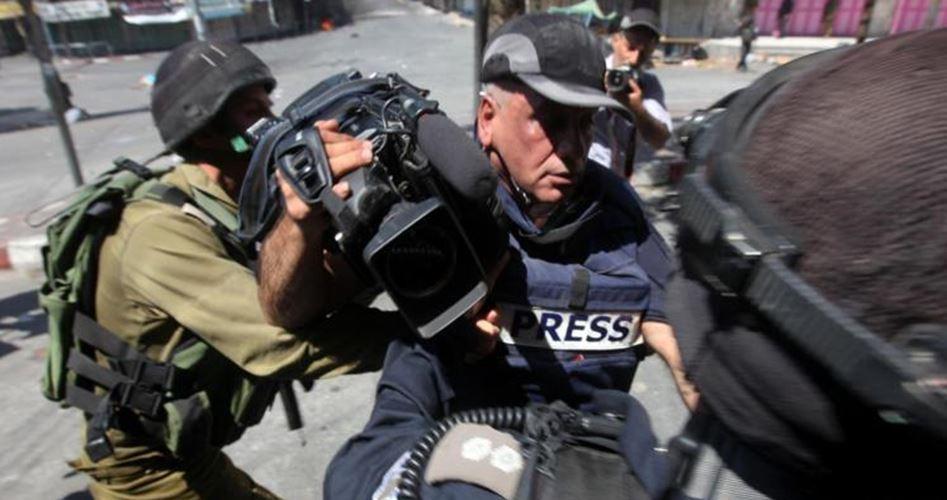 600 violazioni israeliane contro la stampa dall'inizio del 2016