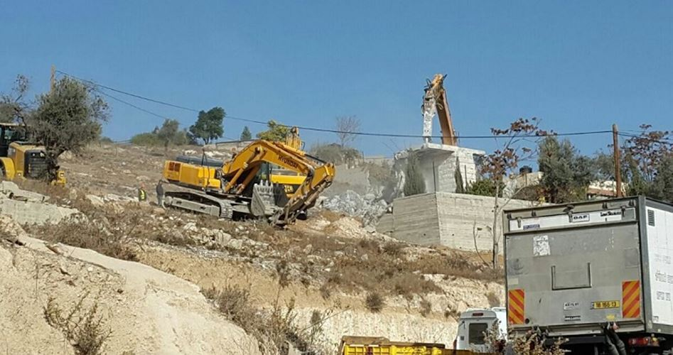 Casa gerosolimitana demolita dalle forze israeliane