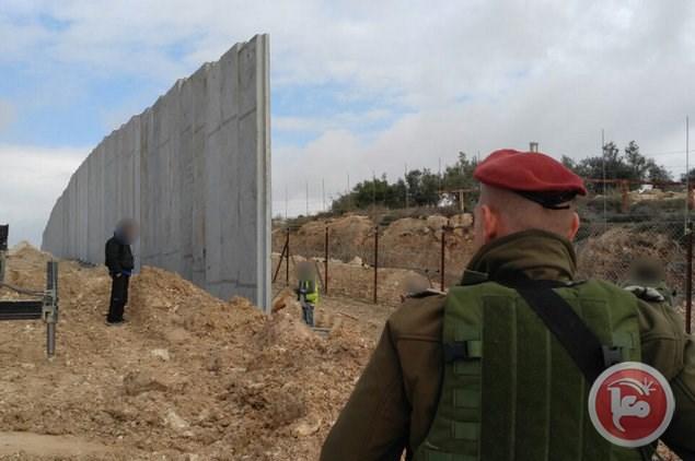 Prosegue la costruzione del muro di separazione a Hebron