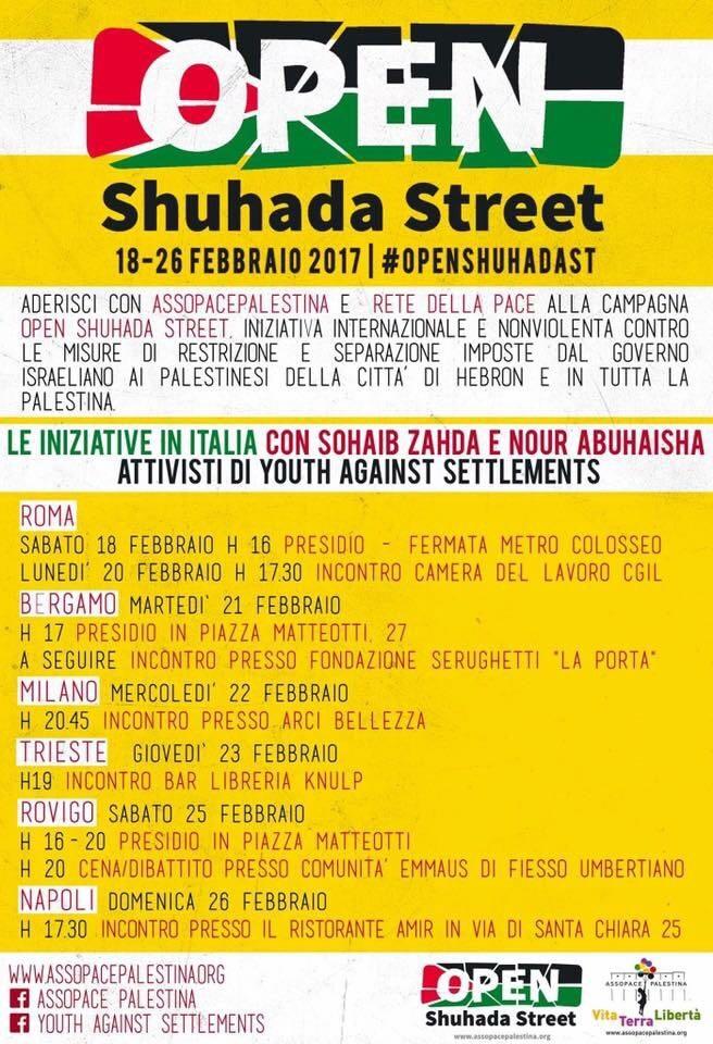 Campagna internazionale: Open Shuhada Street