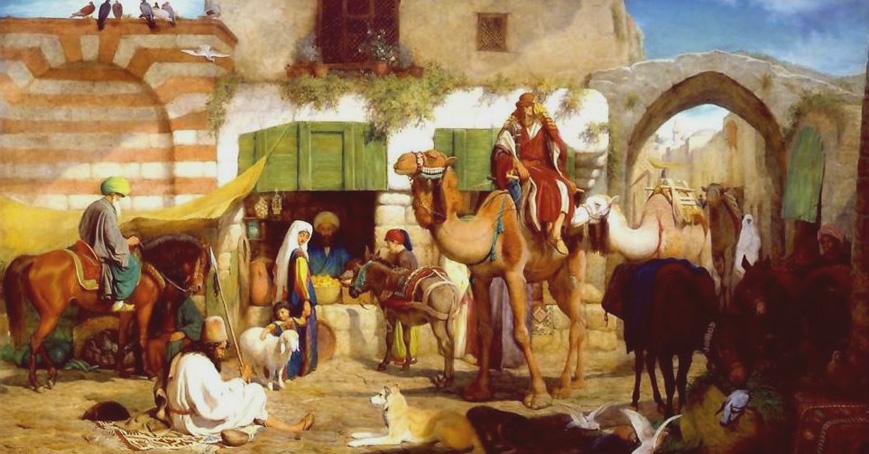 WILLIAM J WEBB - Uma rua em Jerusalém - ost - 89 x 166 - Mathaf Gallery, Londres