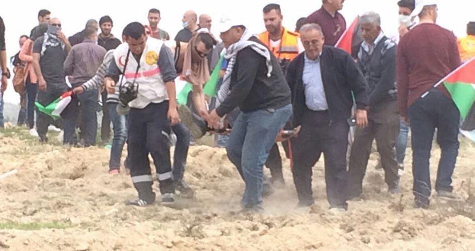 Decine di feriti durante la repressione israeliana delle marce della Giornata della Terra