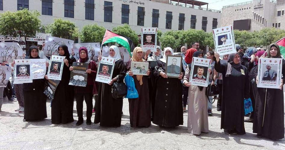 Betlemme, presidio delle madri dei prigionieri in sciopero della fame