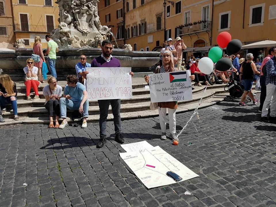Sit-in e flash-mob in varie città d'Italia in solidarietà con il popolo palestinese