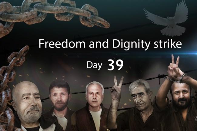 I prigionieri palestinesi entrano nel 40° giorno di sciopero