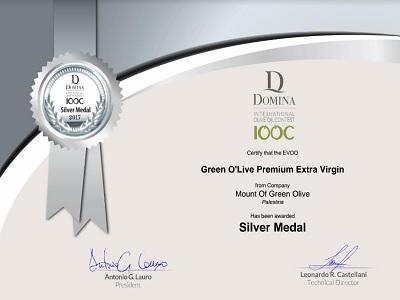 Compagnia palestinese vince premio internazionale per l'olio d'oliva