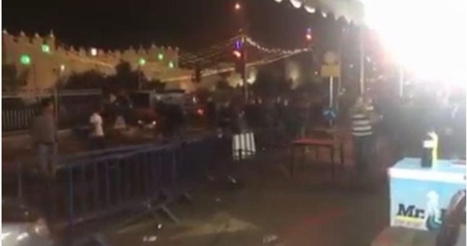Gerusalemme, le forze di occupazione caricano pacifico evento per il Ramadan