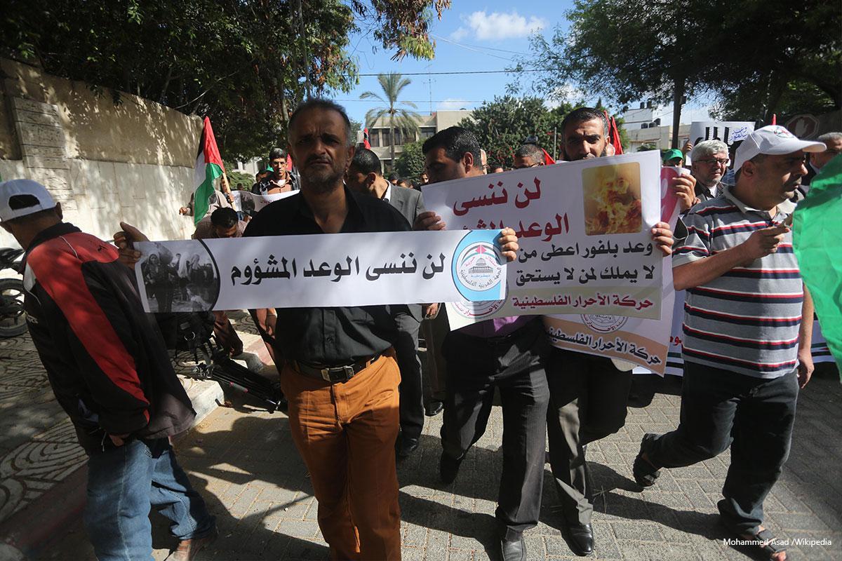 La dichiarazione Balfour ha distrutto la Palestina, non il popolo palestinese