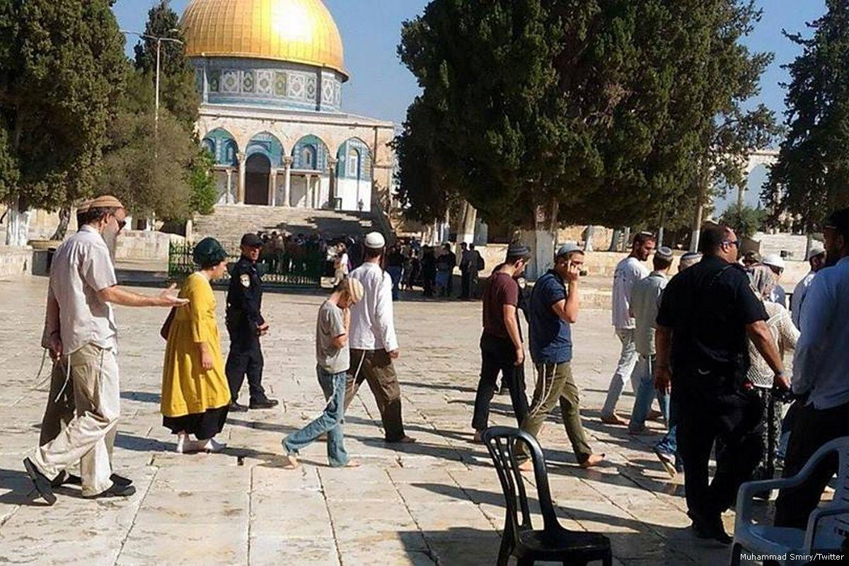 Gerusalemme, 107 coloni, scortati dalle forze israeliane, invadono al-Aqsa