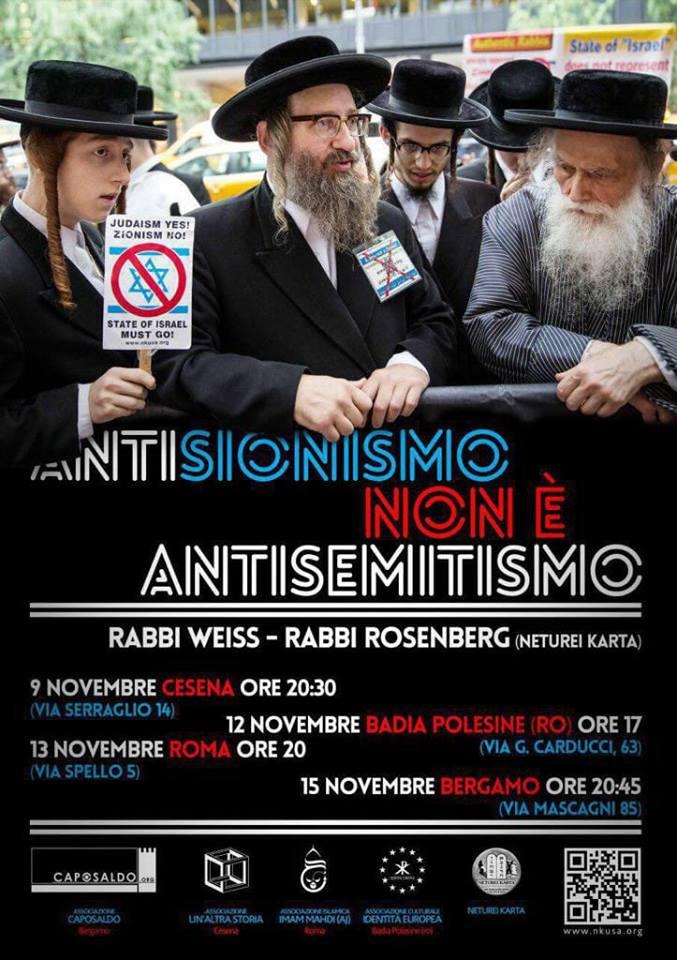 Antisionismo non è antisemitismo: i rabbi di NK in Italia