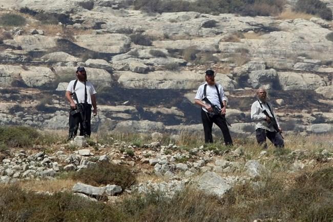 I coloni israeliani rubano i raccolti delle olive dai villaggi di Nablus