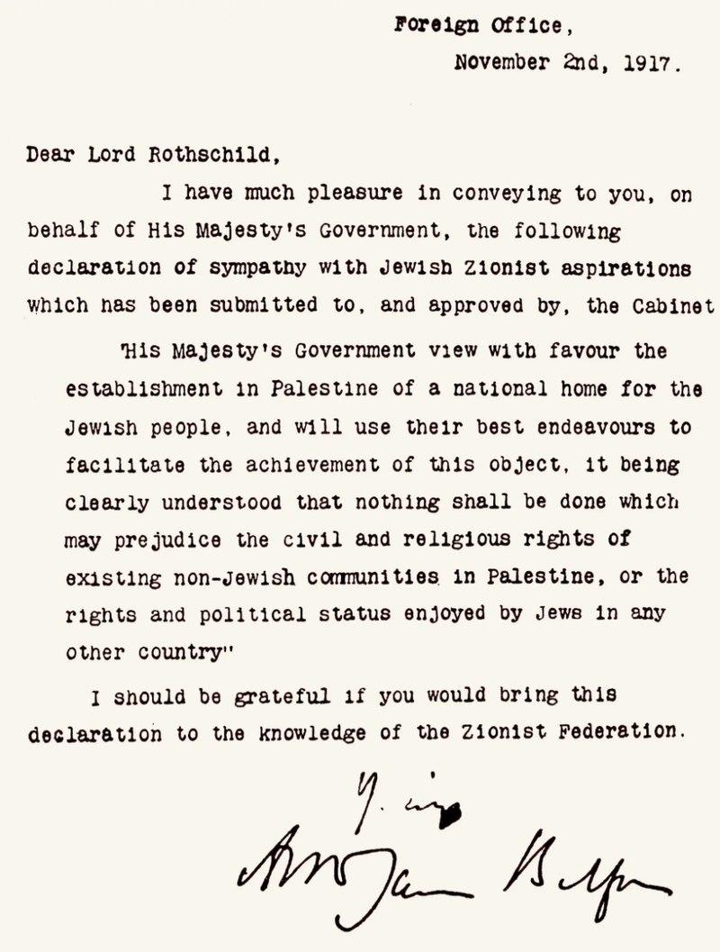 Hamdallah ha invitato la GB ad assumersi la responsabilità per l'errore Balfour