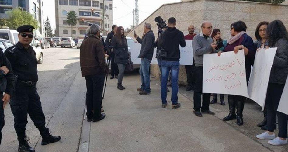 Protesta dei giornalisti contro l'interferenza dell'ANP