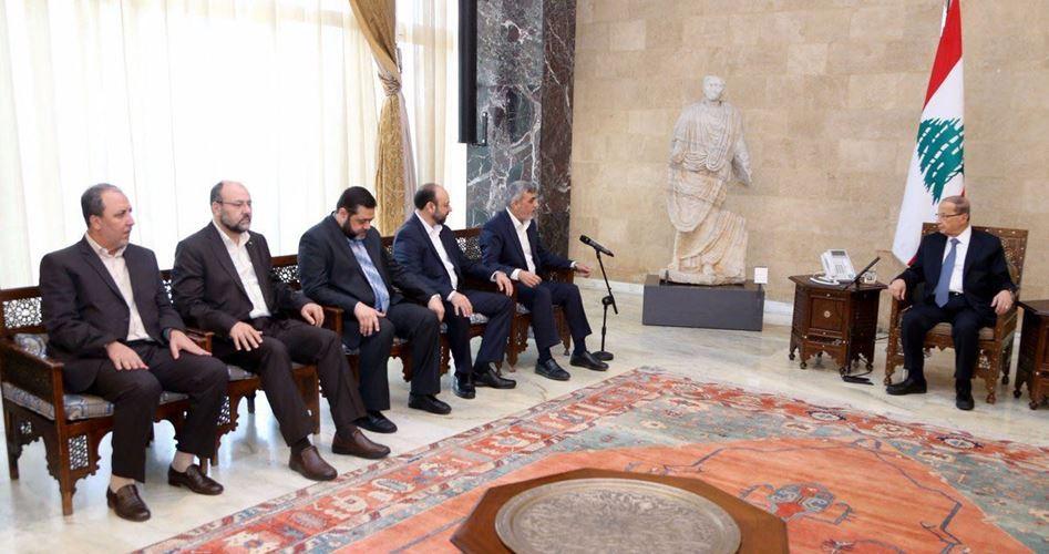 Il presidente del Libano incontra una delegazione di Hamas