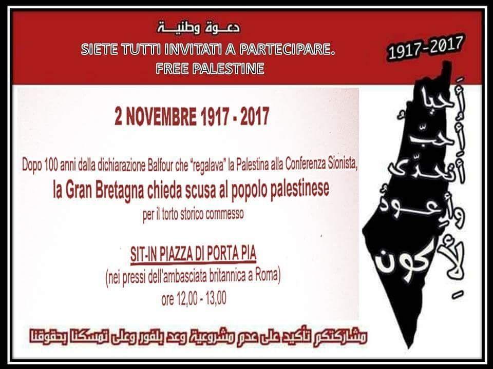 """Evento: """"La GB chieda scusa al popolo palestinese"""""""