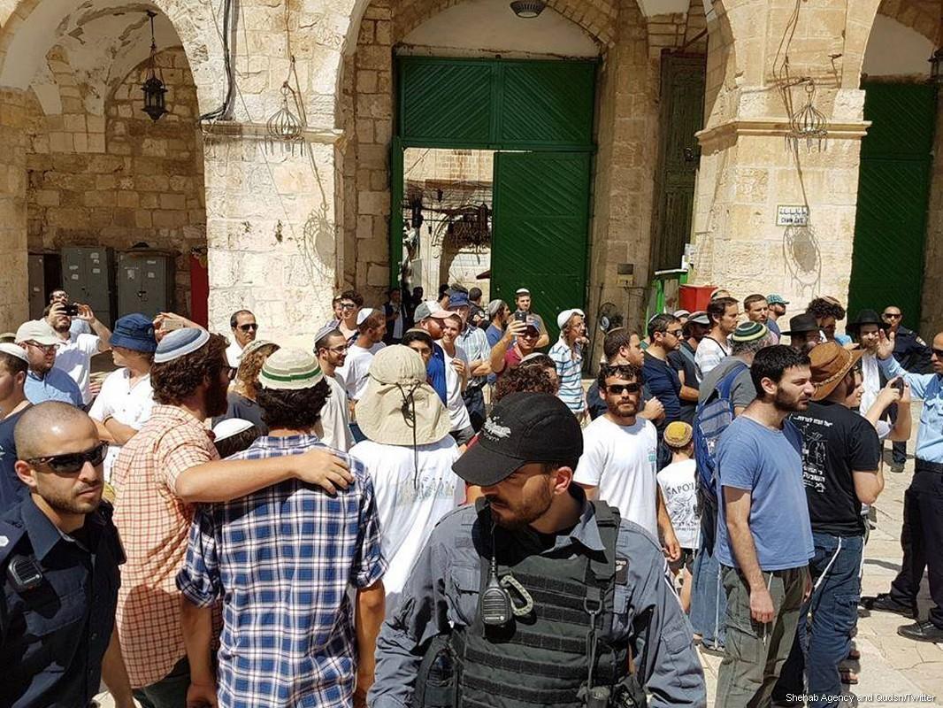 A novembre 100 violazioni israeliane contro le moschee al-Aqsa e Ibrahimi