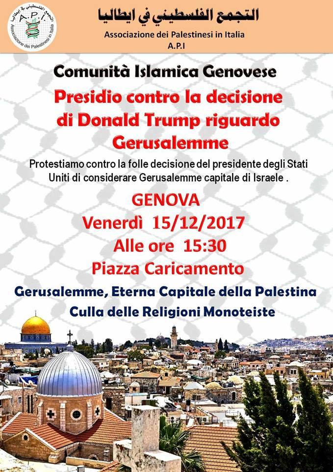 Genova, presidio per Gerusalemme