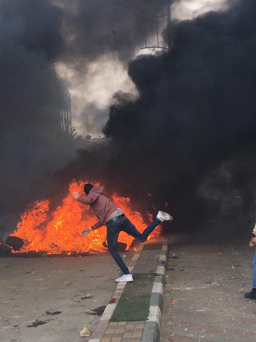 Manifestazioni anti-Trump e anti-USA in tutta la Palestina