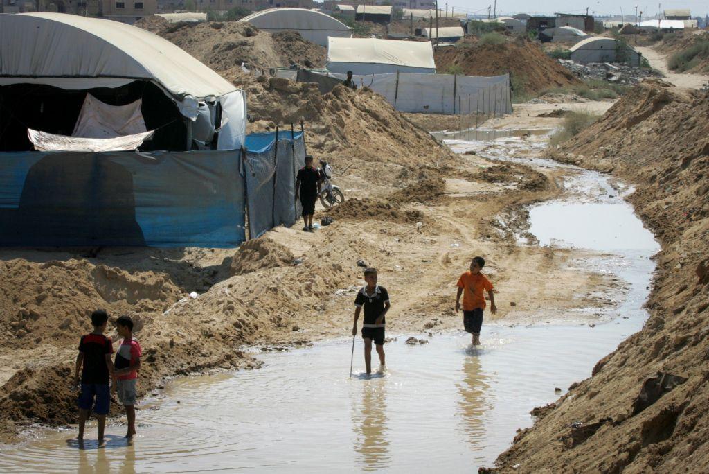 ONU: mezzo milione di gazawi a rischio di sfollamento a causa di alluvioni