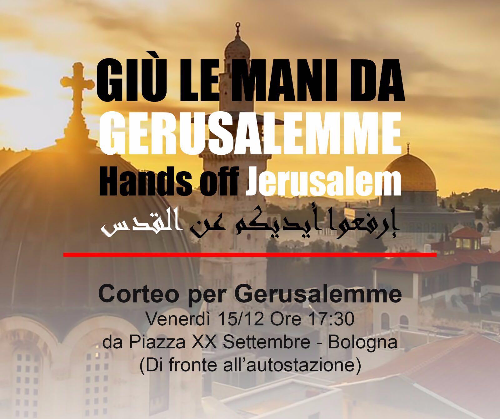 Bologna, manifestazione per Gerusalemme