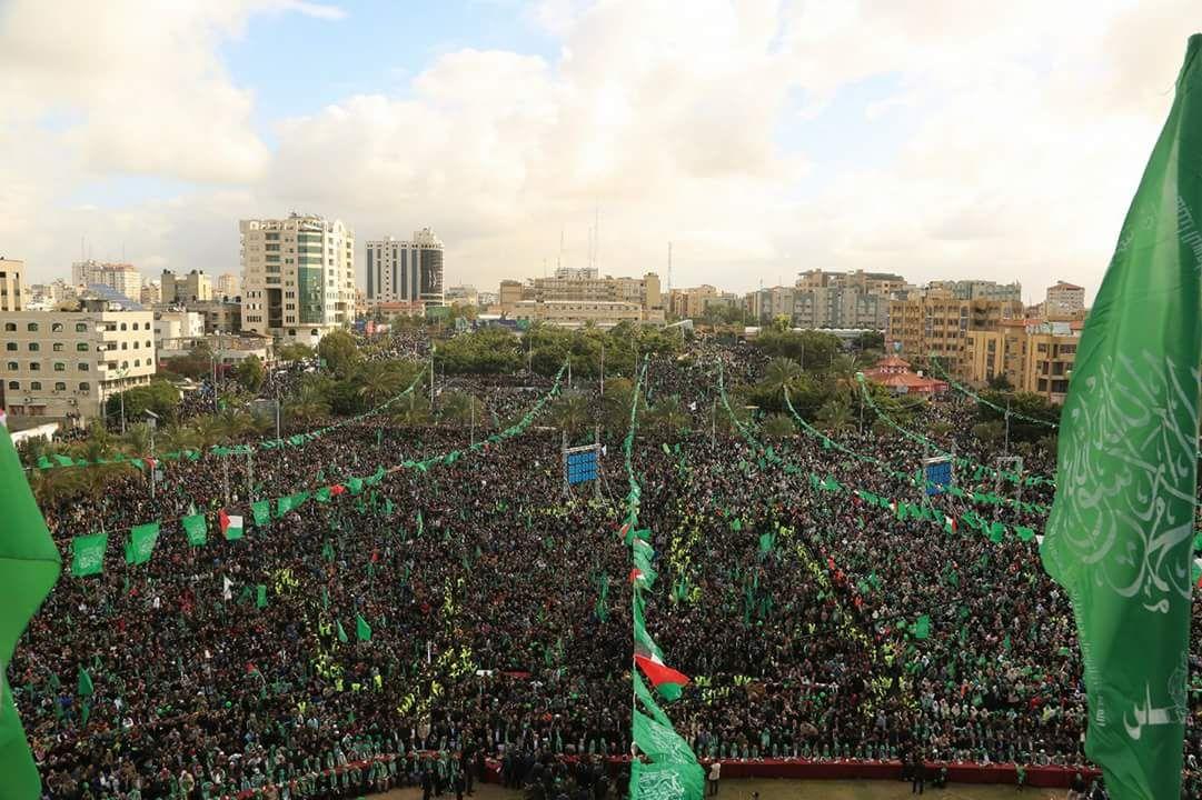 Celebrazioni a Gaza per il 30° anniversario di Hamas